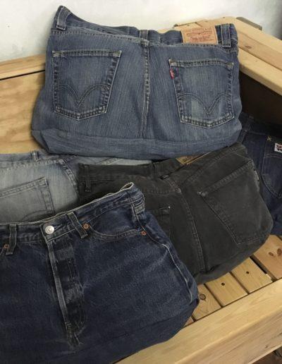 Jeanskissen aus Markenjeans