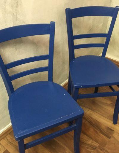 Küchenstühle blau