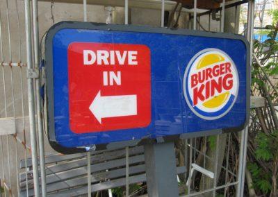 Burger King Leuchtreklame